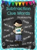 Story Problem Clue Words Posters & Activities