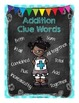 Story Problem Clue Words Posters & Activity (Addition & Su