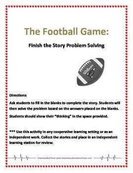 Story Problem - Football
