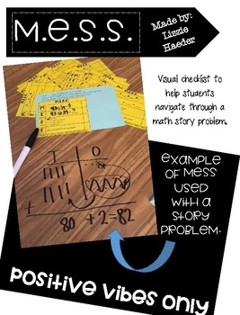 Story Problem Graphic Organizer (MESS)