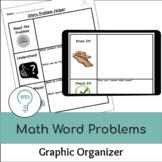 Math Word Problem Graphic Organizer | Digital and Print