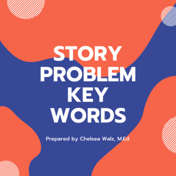 Story Problem Key Words