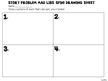 Story Problem Mad Libs Spin