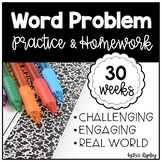 30 Weeks of Word Problem Practice & Homework
