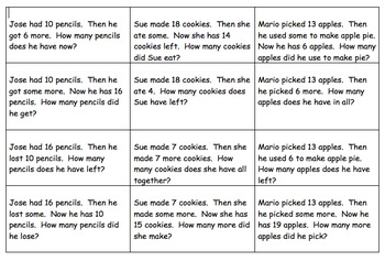 Story Problem - Situation Equation Match-Up