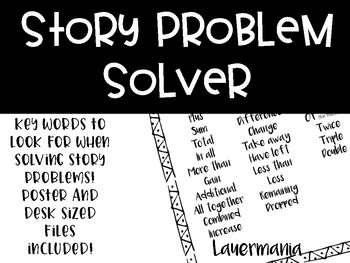 FREEBIE Story Problem Helper
