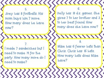 Story Problem Task Cards