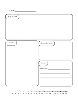 Story Problem Template