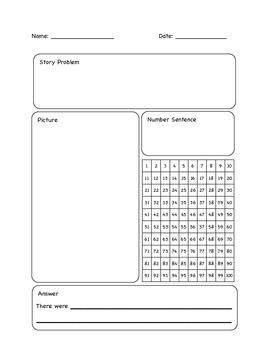 Math Story Problem Template