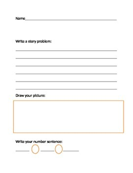 Story Problem Template *No Prep*
