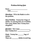Story Problem Template