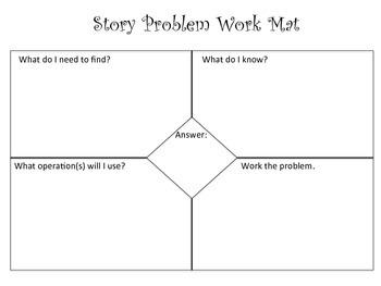 Story Problem Work Mat