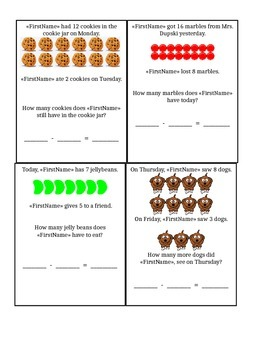 Story Problems - Subtraction