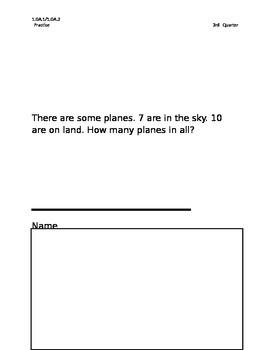 Story Problems 1st grade, 3rd quarter