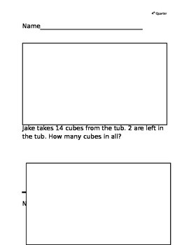 Story Problems 1st grade, 4th quarter