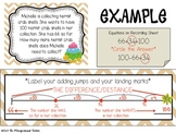 Story Problems Addend Unknown/Difference Unknown on a Number Line #s up to 100