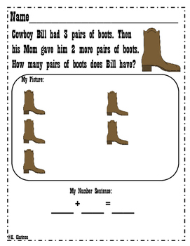 Story Problems {Addition and Subtraction} Western Theme!