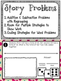 Story Problems - Addition and Subtraction with Regrouping