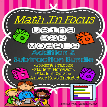 Story Problems-Bar Models with Addition & Subtraction BUNDLE