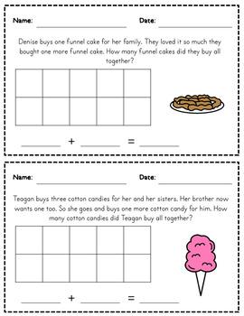 Story Problems -  Basic Addition