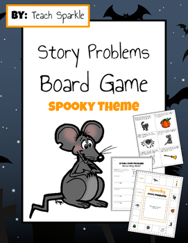 Story Problems Board Game (Spooky Theme)