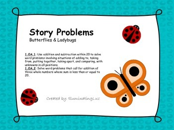 Story Problems - Butterflies & Ladybugs