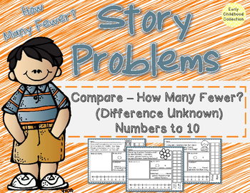 Story Problems - Compare Difference Unknown {How many fewe