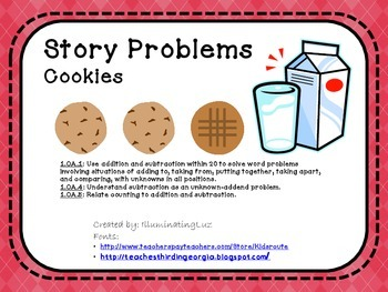 Story Problems - Cookies