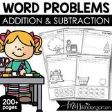 Story Problems Seasonl bundle {addition & subtraction to 10}