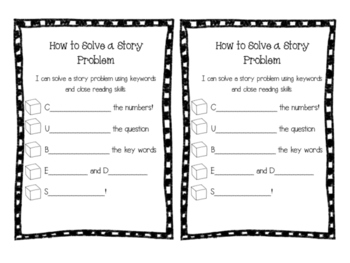Story Problems-Interactive Notebook