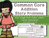 Word Problems- Put Together Take Apart:Total Unknown{Part-Part-Whole type} to 20