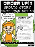 Story Problems - Sports Order Up! Set 10 (Golf)