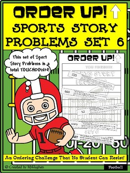 Story Problems - Sports Order Up! Set 6 (Football)