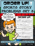 Story Problems - Sports Order Up! Set 8 (Track and Field)