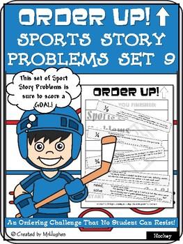Story Problems - Sports Order Up! Set 9 (Hockey)