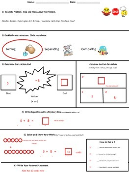 Story Problems Steps - Template