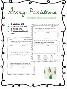 Story Problems (Subtraction, Missing Addend, & Mixed)