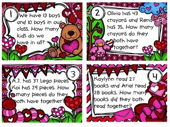 Story Problems (Two Digit Addition and Subtraction Problems)