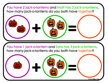 Story Problems for Beginners - Halloween Pack