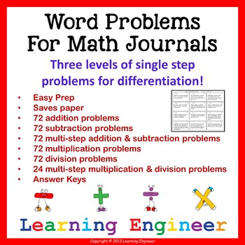 Addition Word Problem with Subtraction Word Problem for 2nd Grade Math Center