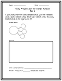 Story Problems with 3-Digit Numbers Set 2.  Including Number Bonds.