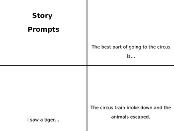 Story Prompt Cards