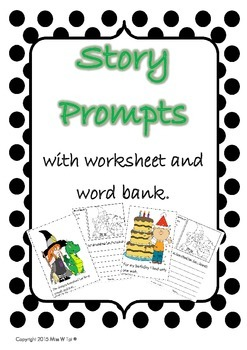 Story Prompts for Grade One - worksheets included.