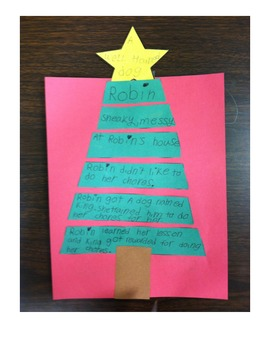 Story Pyramid and Summarizing Christmas Tree Graphic Organizer