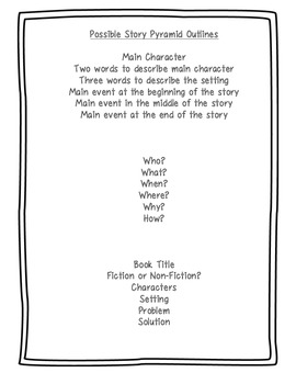 Story Pyramid and Summarizing Christmas Tree Graphic Organizer | TpT