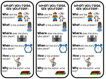 Story Questions Bookmark
