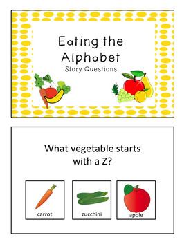 """Story Questions for """"Eating the Alphabet"""""""