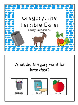 """Story Questions for """"Gregory, the Terrible Eater"""""""