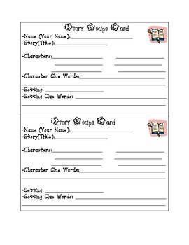 Story Recipe Card