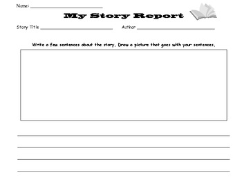 Story Report & Sequence Worksheets